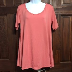 Perfect Tee Lularoe Muted Pink solid